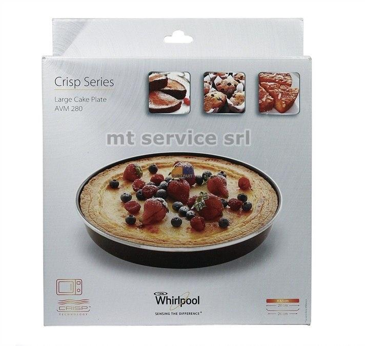 Whirlpool piatto crisp tortiera per forno a microonde - Forno a microonde con crisp ...