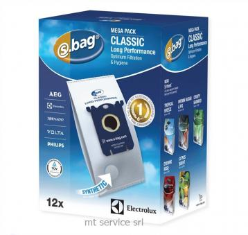 Cf 12 sacchetti electrolux s-bag classic long performance e201m
